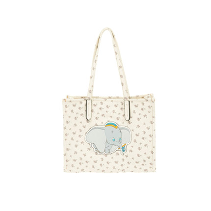 Flying elephant canvas bag vertical style